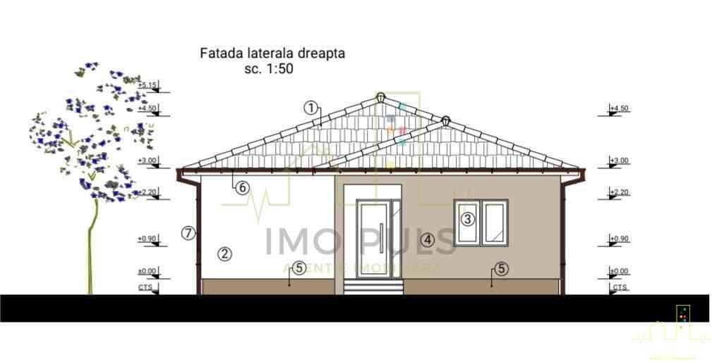 Casa individuala pe parter. 2 ba...